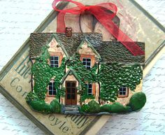 Custom House Ornament order brendatessman one custom ornament to be delivered right after New Years 6000 via Etsy Christmas Time, Christmas Gifts, Christmas Decorations, Christmas Ornaments, Christmas Ideas, Christmas Clay, Rustic Christmas, Holiday Fun, Festive