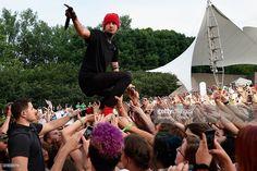 Tyler Joseph of Twenty One Pilots performs during Bunbury Music Festival on June 7, 2015 in Cincinnati, Ohio
