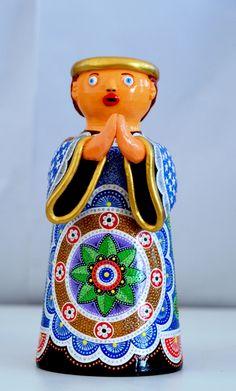 Ismael Pereira, anjo, acrílica sobre cerâmica. Reproduçao fotográfica e-Sergipe.