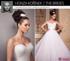 Asi nejklasičtější svatební účes vytvořil Honza Kořínek pro moderátorku Renátu Czaderovnou.