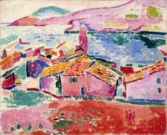 Matisse: Les toits de Collioure, 1905 : Love his brilliant colors! They just take you into the painting and make you smile!
