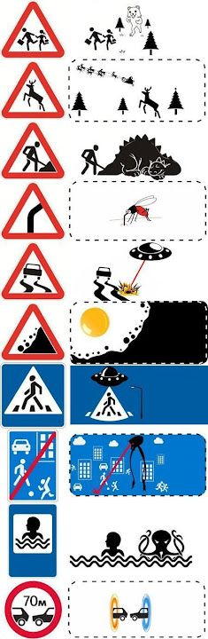 discovered some road signs.