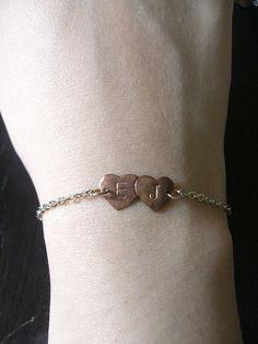 Lovers Initials Bracelet! Aww!