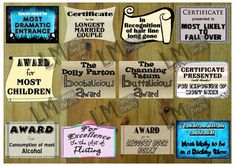 Reunion Certificates Photo Props Class Reunion by LMPhotoProps - Silly Awards - Yay or Nay?