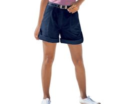 Bermudy - šortky   blancheporte.sk  #blancheporte #blancheporteSK #blancheporte_sk #letnakolekcia Bermuda, Casual Shorts, T Shirt, Zip, Women, Products, Fashion, Color Blue, Belt