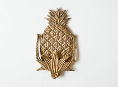 Vintage Solid Brass Pineapple Door Knocker by TheWildWorld on Etsy
