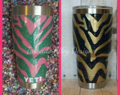 OMBRE GLITTER YETI  **Please know, I have been glittering cups for almost 2 years now. I have taken a lot of time to research, and make sure you are getting a quality product that is safe for you to use (FDA approved). My cups are smooth like glass and my edges are completely straight. I embed all of the decal into the epoxy so they wont ever peel up. All of my cups are hand crafted using loose glitter and FDA approved food grade epoxy; they are NOT just SPRAY PAINTED and sealed. There are a…