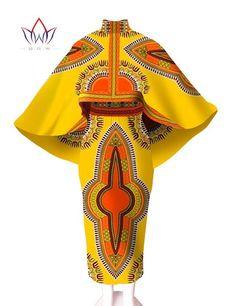 African Print Dresses Women African Skirt 2016 2 Piece Dashiki Dress Unqie Cape Cape 2 Piece Sets Women Plus Size Image source African Dresses For Women, African Print Dresses, African Attire, African Wear, African Fashion Dresses, African Women, African Skirt, Ghanaian Fashion, African Prints
