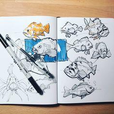 Sketch Book Sketch by Alex Hagelis - Art Inspo, Inspiration Art, Sketchbook Inspiration, Sketchbook Drawings, Sketchbook Pages, Drawing Sketches, Moleskine Sketchbook, Sketchbooks, Sketch Art