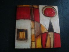 MORADA objetos de decoración Illustrations, Texture Painting, Geometric Art, Home Art, Envelopes, Glass Art, Abstract Art, Creations, Collage
