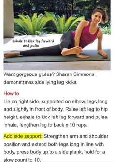 Side lying Leg Kick