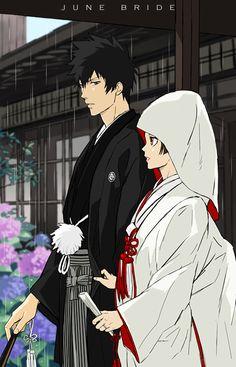 Raibura, PSYCHO-PASS, Kougami Shinya, Tsunemori Akane, Leaves, Wedding Dress