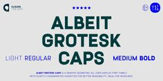 Albeit Grotesk Caps is a graphic geometric ALL CAPS display font family of four weights with slightly exaggarated diacritics for better readability making it ideal for headlines.  https://www.myfonts.com/fonts/cloud9-type-dept/albeit-grotesk-caps/