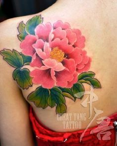 This colorful tattoo on the shoulder is our next pick that you can try. the color combinations are just amazing that, when merged with your creativity can prove to be the best peony ever.