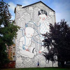 Entrañables murales en las calles de Turín realizados por Millo