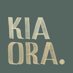 Kia ora | Hello, Best Wishes, Good luck. #tereomāori #māori #tereo #typography #handlettering #māoridesign #tereomaori #maori #kupuoterā #kupu #vocab #handmadefont #aotearoa #nz #newzealand Maori Designs, Kia Ora, Maori Art, Zine, New Zealand, Hand Lettering, Greeting Cards, Typography, Art Prints