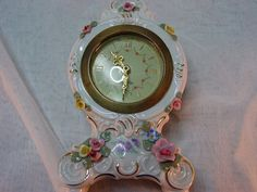 Your place to buy and sell all things handmade Dresden Porcelain, China Porcelain, Mantle Clock, Telling Time, Vintage China, Fine China, Clocks, Beautiful Things, Bracelet Watch