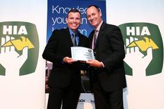 Brad accepting the 3rd Professional Builder Award 2013