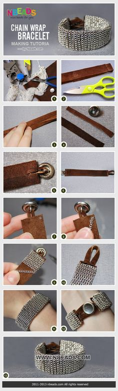 chain wrap bracelet making tutorial