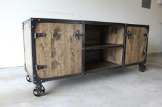"72"" Media Console / Cabinet - Modern Industrial Furniture"