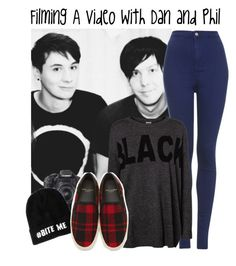 Filming A Video With Dan and Phil by albamonkey on Polyvore featuring Vero Moda, Topshop, Yves Saint Laurent and Eos