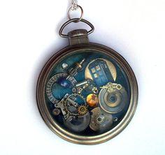 Doctor Who Pocket Watch Necklace The Subwave by TimeMachineJewelry, $50.00