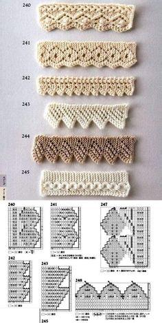 Crochet Shell Stitch Lots Of Fabulous Free Patterns - Crochet Ideas - Louisa Baby Knitting Patterns, Crochet Edging Patterns, Knitting Stiches, Knitting Charts, Lace Knitting, Crochet Stitches, Knitting Needles, Diy Crafts Knitting, Diy Crafts Crochet