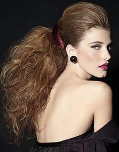 Recreate the look with #secretextensions. #daisyfuentes #myhairsecret #hairtrends #hairhowtos #hollywoodhair #hairstyles #hairisfashion #beautybiz #ponytails #volume