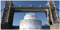 Giant Birthday cake for ebay's 20th birthday
