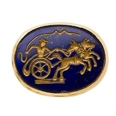 Lapis Lazuli Chariot RIng | From a unique collection of vintage more rings at http://www.1stdibs.com/jewelry/rings/more-rings/
