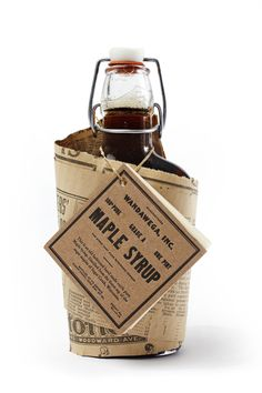 ♂ Creative package design maple syrup
