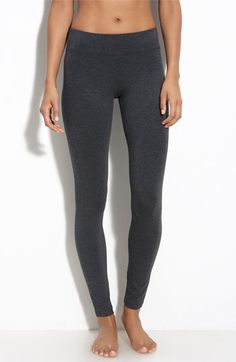 These are the perfect leggings! Thanks to the ultra wide waistband, they don't roll when you sit! And, they're super comfy!