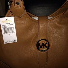 "Michael Kors Bag New With Tags!!! Super Deal!!! ""New With Tags 100% Authentic"" Michael Kors Hudson Large Luggage Shoulder Tote $220 O.B.O!!! Michael Kors Bags"