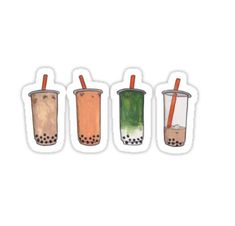 Boba stickers featuring millions of original designs created by independent artists. Preppy Stickers, Food Stickers, Printable Stickers, Tea Wallpaper, Painting Wallpaper, Tea Puns, Boba Pearls, Bubble Milk Tea, Homemade Stickers