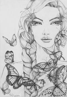Afbeeldingsresultaat voor Colour my Dreams, Monja Gates Art Drawings For Kids, Pencil Art Drawings, Art Drawings Sketches, Colorful Drawings, Free Adult Coloring Pages, Cute Coloring Pages, Coloring Books, Color Pencil Art, Anime