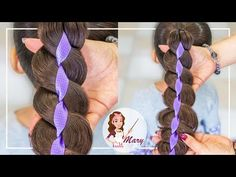 Easy Hairstyles, Girl Hairstyles, Love Me Forever, Ribbon Hair, Beauty Hacks, Beauty Tips, Crochet Necklace, Braids, Hair Styles