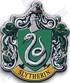 SLYTHERIN  iron on embroidery crest  patch -  3.0   x  2.5  INCHES    -       iron on  100% embroidered  embroidery patches patch -  harry potter hogwarts   halloween costumes costume robe scarf