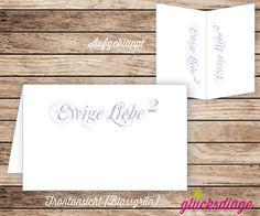 6 x ♥ TISCHKARTE/PLATZKARTE HOCHZEIT ♥ Ewige Liebe von j-designerie - FEINE DRUCKSACHEN auf DaWanda.com