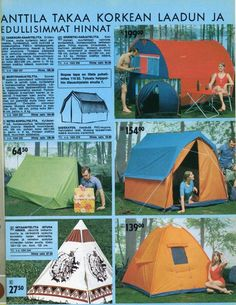 Retro Camping, Good Old Times, Old Ads, Teenage Years, Back In Time, Mobile Home, Caravan, Finland, Childhood Memories