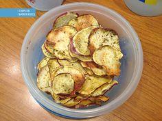 Pré treino - chips de batata doce (Testada)