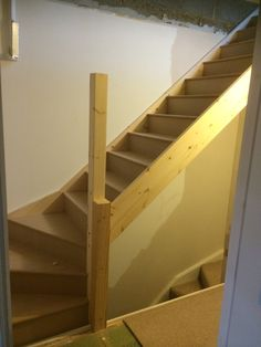 Stairs for the loft conversion have been fitted Loft Conversion Stairs, Attic Conversion, Loft Conversions, Loft Room, Bedroom Loft, Loft Staircase, Cabin Loft, Victorian Terrace, Attic Ideas