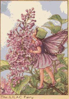 Lilac Fairy - cross stitch pattern