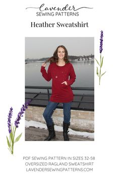 Pdf Sewing Patterns, Print Patterns, Love Sewing, Jumper, Lavender, Things To Come, Tunic, Cozy, Pocket