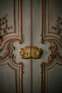 not sure what is most appealing, the color, the elaborate carving or the brass...The Aestheticlist