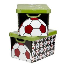 As if the soccer gear ever gets stored - Ha! Soccer Bedroom, Kids Bedroom Boys, Kids Boys, Soccer Crafts, Soccer Gear, Bedroom Themes, Bedroom Ideas, Daughters Room, Baby Decor