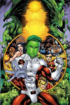 """Garfield Mark """"Gar"""" Logan (Beast Boy/Changeling) Can shapeshift into any animal in existence (Debut: 1965)"""