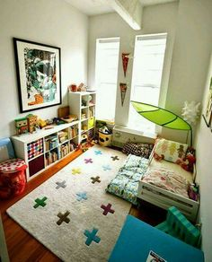 Great idea for toddlers room. No more falling off the bed.