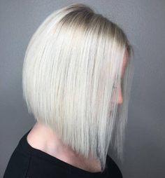 Silver Blonde Angled Lob