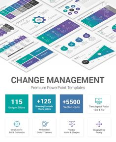 Best collection of Change Management PowerPoint Template Diagrams and Slides to help you create a successful plan and implement effective strategic change processes within your company or organization. Powerpoint Template Free, Powerpoint Presentation Templates, Change Management Models, Stakeholder Analysis, Ppt Slide Design, Success Factors, Agent Of Change, Effective Communication, Color Vector