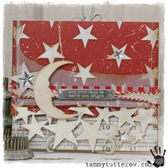 Tammy Tutterow Tim Holtz Idea-ology Sizzix Merry and Bright Card.